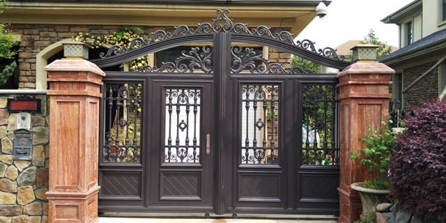 铝镁合金庭院门